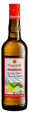 Sirop Artisan Thé Vert, Citron et Fleur de Sureau Eyguebelle