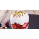 Verrines de fraises au mascarpone et pistaches