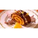Bûche Chocolat - Mandarine